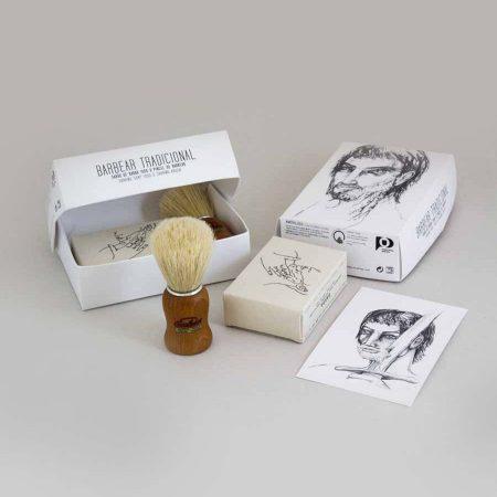 Amor Luso sabonete pincel de barbear natural coleção guerreiro