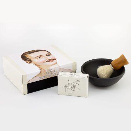 Amor Luso sabonete taca pincel de barbear natural colecao bigodes