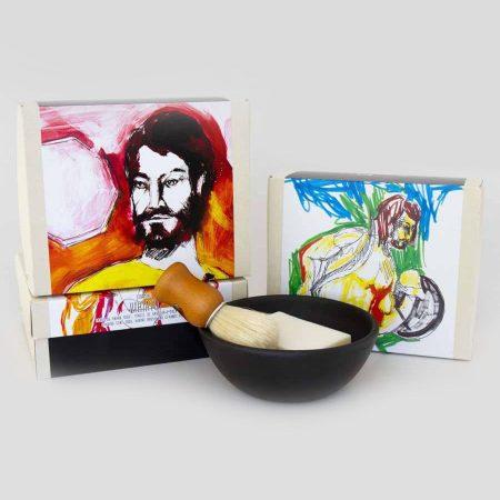 Amor Luso sabonete taça pincel de barbear natural coleção viriato