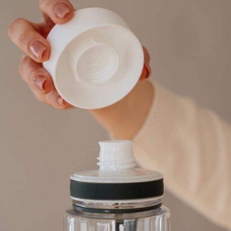 EQUA - Garrafa reutilizável Plain white
