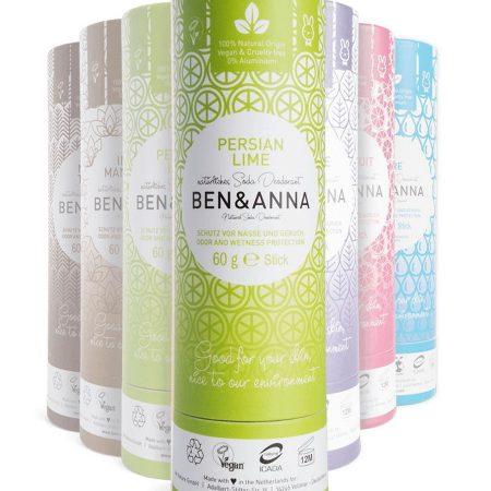 BEN&ANNA - Desodorizante natural Lima Persa (Tubo de papel)