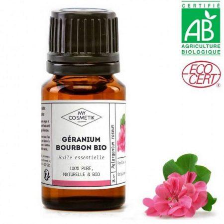 MYCOSMETIK óleo essencial gerânio biológico orgânico quimiotipado