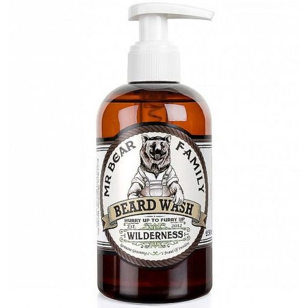 Mr Bear Family champô para barba natural biológico Beard wash wilderness