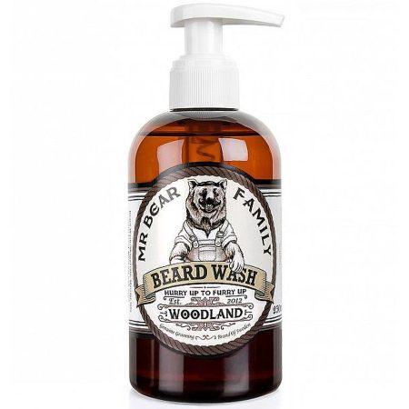 Mr Bear Family champô para barba natural biológico Beard wash woodland