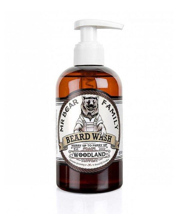 Mr-Bear-Family-natural-biologico-champo-para-barba-Beard-wash-woodland