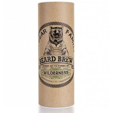 Mr-Bear-Family óleo para barba natural biológico beard brew wilderness caixa
