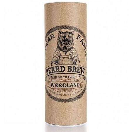 Mr-Bear-Family óleo para barba natural biológico beard brew woodland caixa