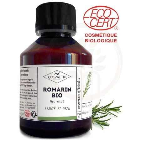 MyCosmetik hidrolato de alecrim bio agua floral alecrim biológica orgânica certificada