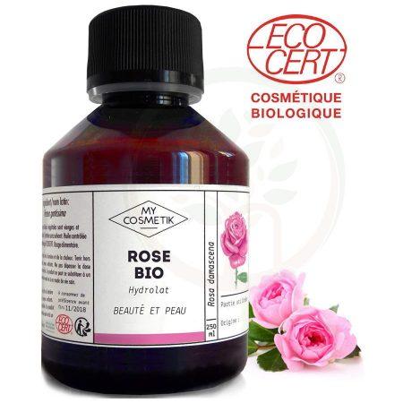 MyCosmetik hidrolato de rosa damascena biológica orgânica agua floral certificada