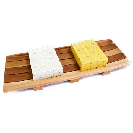 Saboneteira de madeira grande natural sustentável