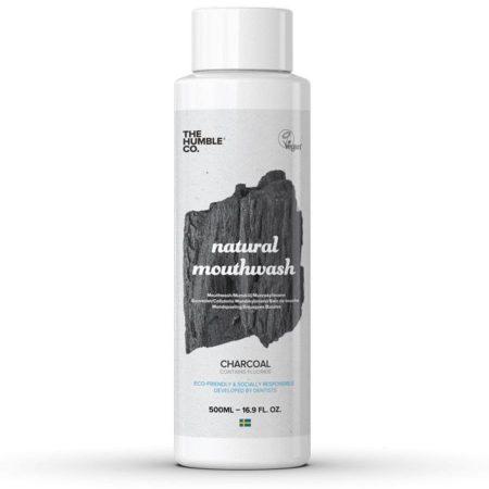 The Humble Co elixir bucal natural carvão sabor menta 500ml