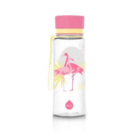 Garrafa reutilizável flamingo