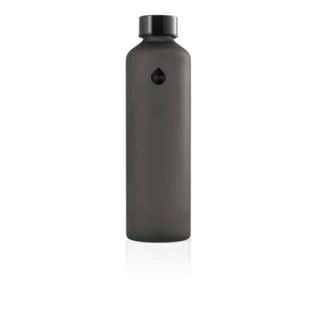 Garrafa reutilizável de vidro black