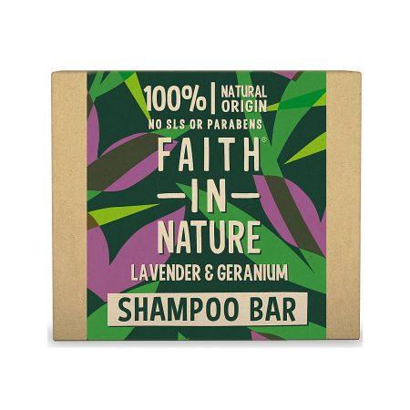 Faith in Nature champo solido lavanda gerânio