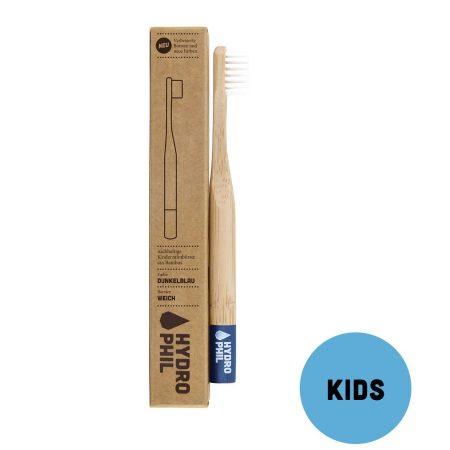 Hydrophil escova de dentes em bambu Crianças azul