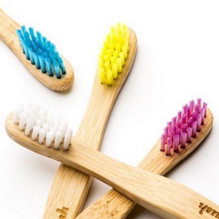 The-Humble Co escova de dentes em bambu criança