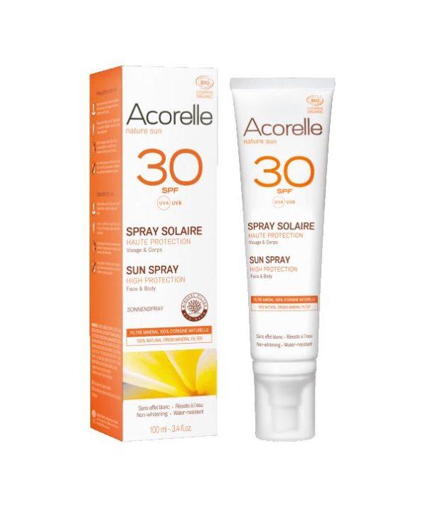 Acorelle protetor solar mineral natural 30