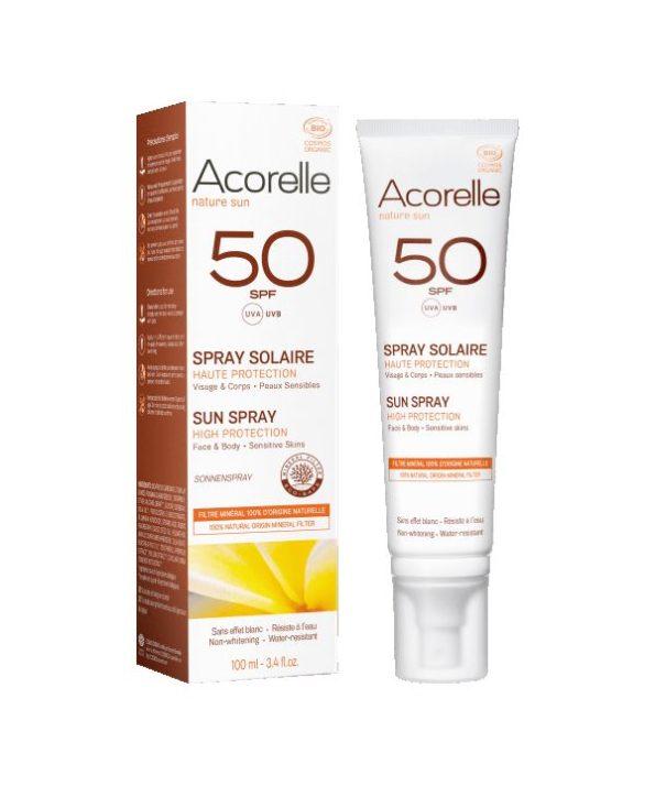Acorelle protetor solar mineral natural 50