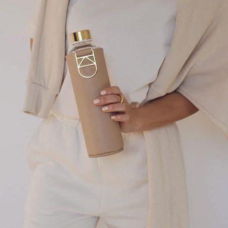 EQUA garrafa reutilizável vidro Sienna 1