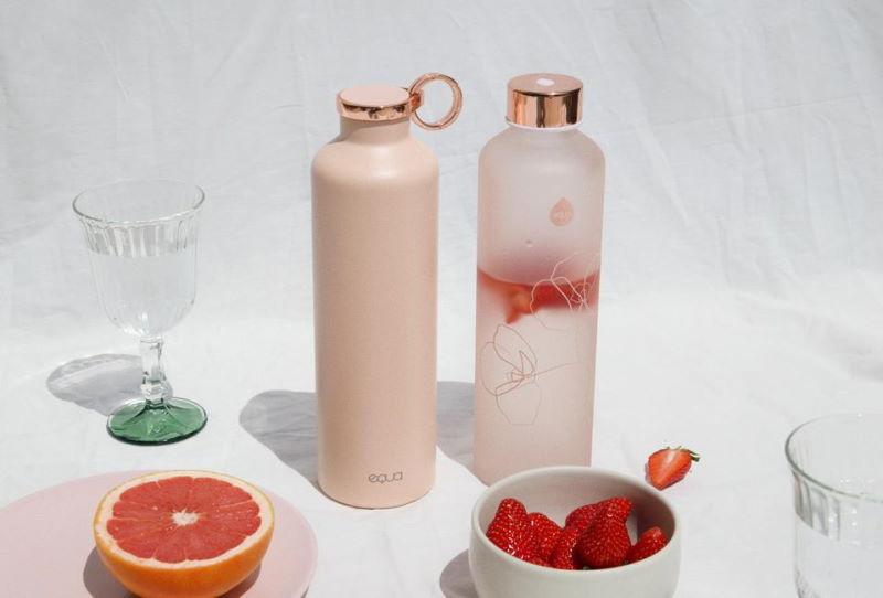 equa garrafa reutilizável térmica vidro